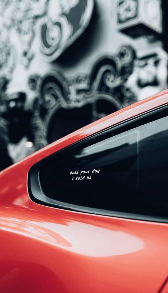 sticker pour vitre de voiture